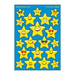 "画像1: 【T-83030】MIXED SHAPE STINKY STICKER  ""EMOJI STARS (Caramel Corn)"""