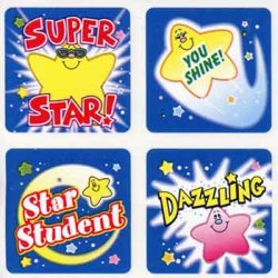 "画像1: 【CD-0639】SQUARE STICKER  ""POSITIVE STARS"""