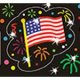 "【T-37007】FOIL BRIGHT STICKER ""FLOWING FLAGS""【在庫限定商品】"