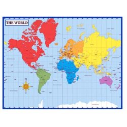 画像1: 【CD-114096】LAMINATED WORLD MAP【在庫限定品】