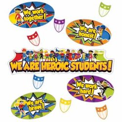 "画像1: 【CD-110314】MINI BULLETIN BOARD (POSTER) SET ""HEROIC STUDENTS"""