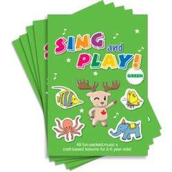 """画像1: 【TL-9012】""""SING AND PLAY!""""-GREEN (5 BOOKS / NO CD)"""