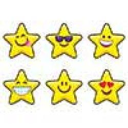 """画像1: 【T-46092】CHART SHAPE STICKER  """"EMOJI STARS"""""""