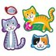 "【T-46342】SHAPE STICKER  ""PURR-FECT PETS"""