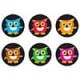 "【T-46204】CHART STICKER  ""BRIGHT OWLS"""