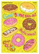 "【T-63363】LARGE SPARKLE STICKER  ""DELIGHTFUL DONUTS"""