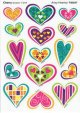 "【T-83037】MIXED SHAPE STINKY STICKER  ""ARTSY HEARTSY(Cherry)"""