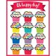 "【CD-114268】LEARNING CHART ""HAPPY BIRTHDAY (OH HAPPI DAYS)"""