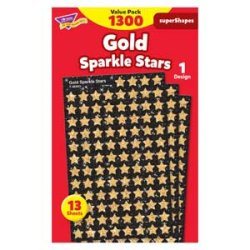 "画像1: 【T-46935】CHART STICKER VARIETY PACK  ""GOLD SPARKLE STARS"""