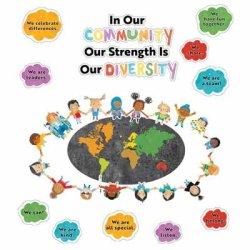 """画像1: 【CD-110534】BULLETIN BOARD (POSTER) SET """"OUR STRENGTH IS OUR DIVERSITY"""""""