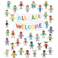 """画像1: 【CD-110533】BULLETIN BOARD (POSTER) SET """"ALL ARE WELCOME"""""""