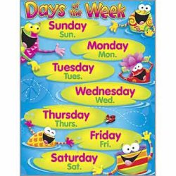 "画像1: 【T-38411】LEARNING CHART ""DAYS OF THE WEEK""【在庫限定商品】"