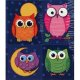 "【CD-168052】PRIZE PACK STICKER  ""COLORFUL OWLS"""