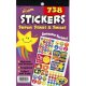 "【T-5010】STICKER PAD ""SUPER STARS & SMILES"""