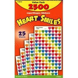"画像1: 【T-46918】CHART STICKER VALUE PACK  ""HEART SMILES"""
