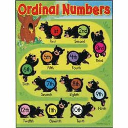 "画像1: 【T-38206】LEARNING CHART ""ORDINAL NUMBERS-BEARS"""