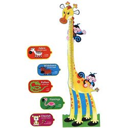 画像1: 【T-8176】GIRAFFE GROWTH CHART