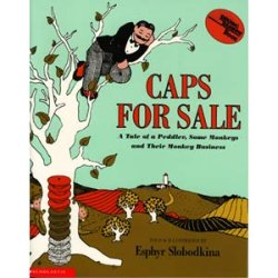 """画像1: 英語絵本""""CAPS FOR SALE(邦題:おさるとぼうしうり)"""""""