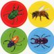 "【T-46186】DISCOVERY STICKER  ""BUSY BUGS""【在庫限定商品】"